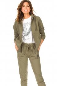 Blaumax |  Hooded cardigan Harlem | green  | Picture 2