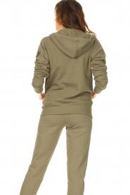 Blaumax |  Hooded cardigan Harlem | green  | Picture 6