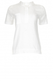Be Pure |  Cotton polo T-shirt Merel | white  | Picture 1