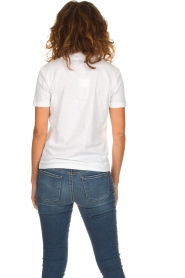 Be Pure |  Cotton polo T-shirt Merel | white  | Picture 5