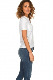 Be Pure |  Cotton polo T-shirt Merel | white  | Picture 4