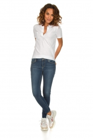 Be Pure |  Cotton polo T-shirt Merel | white  | Picture 3