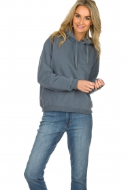 Be Pure |  Hoodie with logo on the back Sanne | blue  | Picture 2