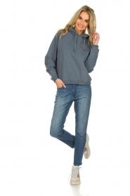 Be Pure |  Hoodie with logo on the back Sanne | blue  | Picture 3