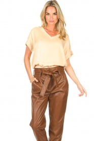 Ibana    V-neck top Tany   natural    Picture 2