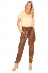 Ibana    V-neck top Tany   natural    Picture 4