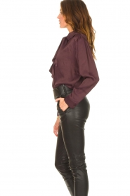 Ibana    Blouse with pussy bow Toline   red wine    Picture 5