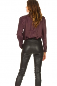 Ibana    Blouse with pussy bow Toline   red wine    Picture 6