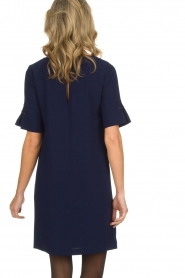 Atos Lombardini |  Straight loose fit dress Manou | blue  | Picture 6