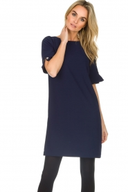 Atos Lombardini |  Straight loose fit dress Manou | blue  | Picture 2