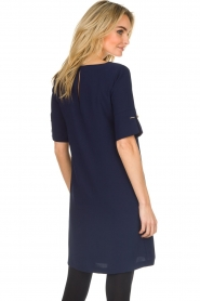 Atos Lombardini |  Straight loose fit dress Manou | blue  | Picture 5