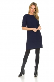 Atos Lombardini |  Straight loose fit dress Manou | blue  | Picture 3