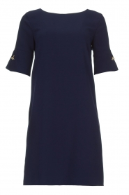 Atos Lombardini |  Straight loose fit dress Manou | blue  | Picture 1