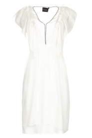 Atos Lombardini |  Dress with ruffles Angelina | white  | Picture 1