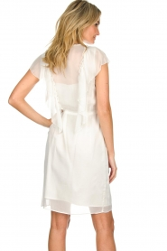 Atos Lombardini |  Dress with ruffles Angelina | white  | Picture 5