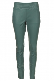 Ibana |  Stretch leather pants Colette | green  | Picture 1