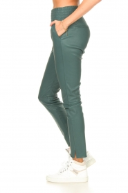 Ibana |  Stretch leather pants Colette | green  | Picture 6
