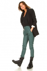 Ibana |  Stretch leather pants Colette | green  | Picture 2