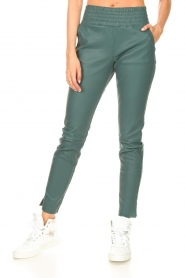 Ibana |  Stretch leather pants Colette | green  | Picture 5