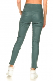 Ibana |  Stretch leather pants Colette | green  | Picture 7