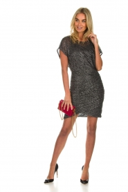 Atos Lombardini |  Glitter dress Serena | black  | Picture 3
