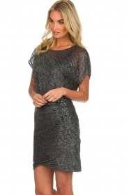 Atos Lombardini |  Glitter dress Serena | black  | Picture 5