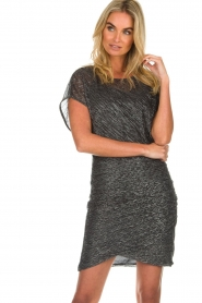 Atos Lombardini |  Glitter dress Serena | black  | Picture 4