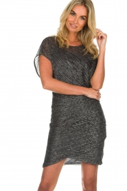 Atos Lombardini |  Glitter dress Serena | black  | Picture 2