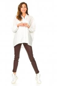 Ibana |  Stretch leather pants Colette | bordeaux  | Picture 3