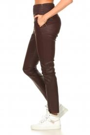 Ibana |  Stretch leather pants Colette | bordeaux  | Picture 5
