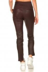 Ibana |  Stretch leather pants Colette | bordeaux  | Picture 6