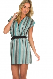 Atos Lombardini |  Striped dress Fenna | blue  | Picture 4