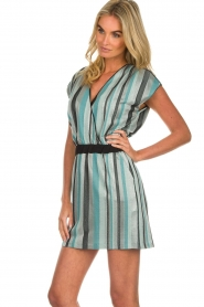 Atos Lombardini |  Striped dress Fenna | blue  | Picture 5