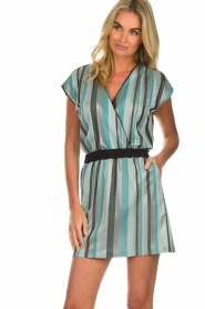 Atos Lombardini |  Striped dress Fenna | blue  | Picture 2