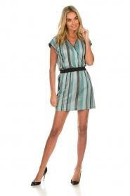 Atos Lombardini |  Striped dress Fenna | blue  | Picture 3