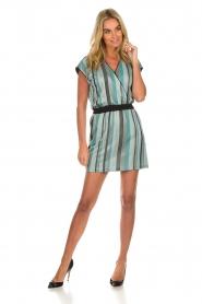 Atos Lombardini | Gestreepte jurk Fenna | blauw  | Afbeelding 3
