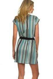 Atos Lombardini | Gestreepte jurk Fenna | blauw  | Afbeelding 6