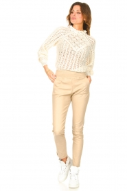 Ibana    Stretch leather pants Colette   natural    Picture 3
