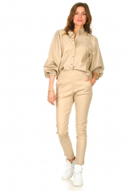 Ibana    Stretch leather pants Colette   natural    Picture 2