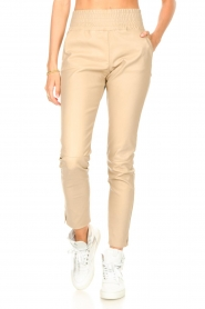 Ibana    Stretch leather pants Colette   natural    Picture 4