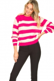 Set |  Striped knitted sweater Star | pink  | Picture 2