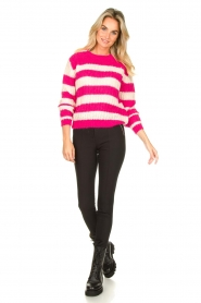 Set |  Striped knitted sweater Star | pink  | Picture 3