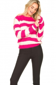 Set |  Striped knitted sweater Star | pink  | Picture 5
