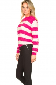 Set |  Striped knitted sweater Star | pink  | Picture 6