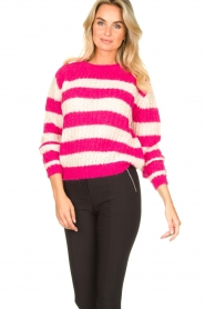 Set |  Striped knitted sweater Star | pink  | Picture 4
