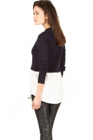 Knit-ted |  Sweater with blouse Naomi | dark blue  | Picture 5