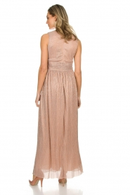 Atos Lombardini |  Maxi dress with lurex Isabelle | nude  | Picture 5