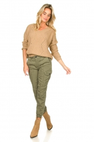 Set |  Knitted V-neck sweater Vinnie | camel  | Picture 3