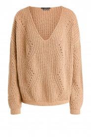 Set |  Knitted V-neck sweater Vinnie | camel  | Picture 1