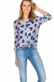 Aaiko | Blouse Geonna | Wit  | Afbeelding 2